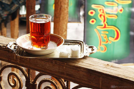 شعر  چای تلخ روضه زخم قلب ما را خوب کرد