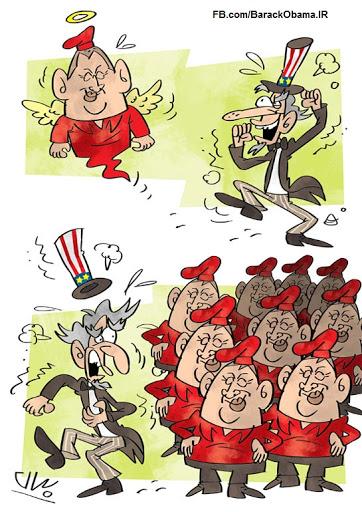کاریکاتور   ما همگی چاوز هستیم