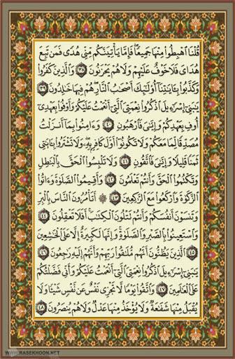 طرح قرائت روزانه ، یک صفحه از کلام الله
