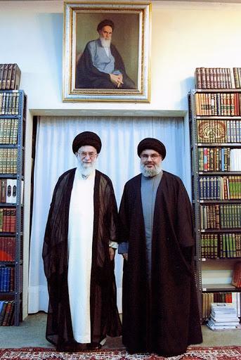 عکس امام خامنه ای و سید حسن نصرالله