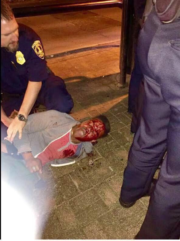 حمله وحشیانه پلیس آمریکا به دانشجوی ممتاز دانشگاه ویرجینیا